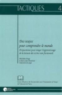 Micheline Dispy et Jean-Louis Dumortier - Des textes pour comprendre le monde - Propositions pour étayer l'apprentissage de la lecture des écrits non fictionnels.