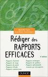 Michelle Fayet et Jean-Denis Commeignes - Rédiger des rapports efficaces.