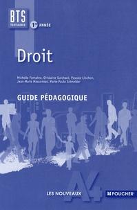Michelle Fontaine - Droit BTS tertiaires 1re année - Guide pédagogique.