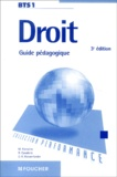 Michelle Fontaine et Robert Cavalerie - Droit BTS - Guide pédagogique.