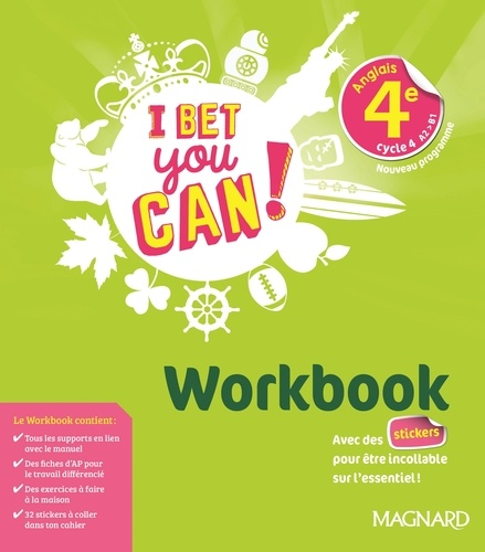 Anglais 4e Cycle 4 A2 B1 I Bet You Can Workbook Grand Format