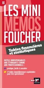 Tables financières et statistiques - Michelle Pascal-Falguières |