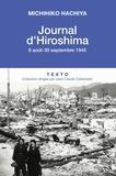 Michihiko Hachiya - Journal d'Hiroshima - 6 août-30 septembre 1945.