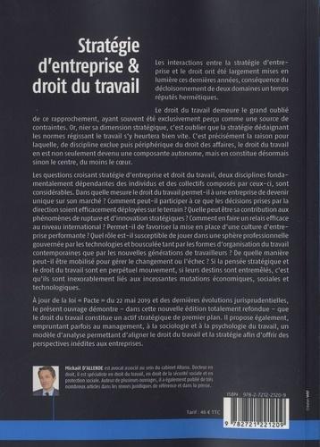 Stratégie d'entreprise et droit du travail 2e édition