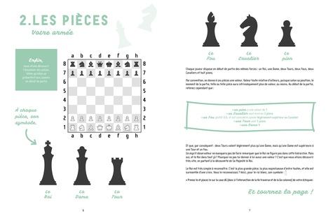 Apprenez à jouer aux échecs. Spécial grands débutants. Découvrez toutes les règles et près de 50 exercices pour éviter d'être échec et mat !