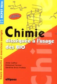 Mickaël Profeta et Anne Coiffier - Chimie disséquée à l'usage des bio - Cours et exercices corrigés.