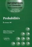 Mihaï Brancovan et Thierry Jeulin - Probabilités Niveau M1.
