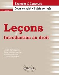 Mikaël Benillouche et Anne-Laure Chavrier - Leçons d'introduction au droit.