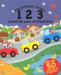 Mike Byrne - Mes premiers stickers 123 - Carnet de jeux et d'activités.
