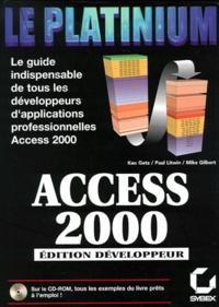 Histoiresdenlire.be ACCESS 2000. Edition développeur avec CD-Rom Image