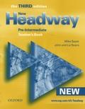 Mike Sayer et John Soars - New Headway - Pre-Intermediate, teacher's Book.