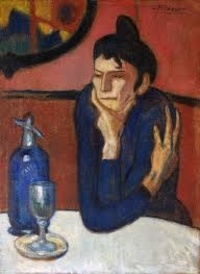 Mikhail German - Pablo Picasso - The Absinthe Drinker.