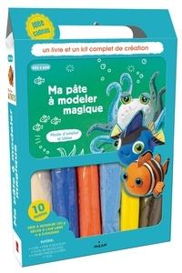 Milan - Ma pâte à modeler magique - Avec 1 livre, 6 rouleaux de pâte à modeler, 1 outil de modelage, 49 formes prédécoupées, 4 paires d'yeux.