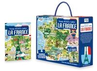 Milena Zanotelli - Voyage, découvre, explore La France - Livre de 32 pages + puzzle circulaire de 210 pièces.
