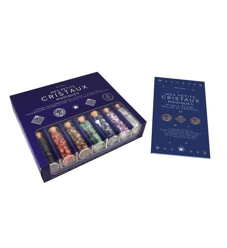 Mily Robin - coffret Mes Petits Cristaux Magiques - 7 pierres pour harmoniser ses chakras + 1 guide complet pour réaliser soi-même élixirs, huiles et.