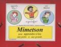 Jacqueline Belin Mouveroux - Mimetson pour apprendre à lire aux petits et aux grands - CD fiches imprimables.