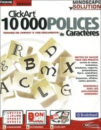 Collectif - ClickArt, 10000 polices de caractères - CD-ROM.