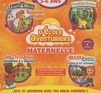 Mindscape entertainment - Coffret L'école des aventuriers Maternelle 3-6 ans - Lapin Malin, Petit Ours Brun, Franklin, Adibou Chou. 4 Cédérom
