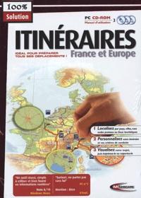 Mindscape - Itinéraires France et Europe - 3 CD-ROM.