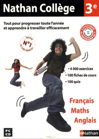 Nathan - Nathan collège 3 ème français maths anglais - CD-ROM.