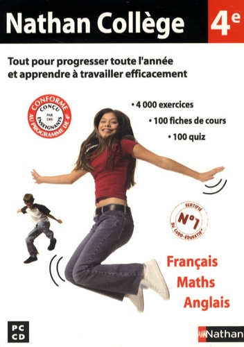 Nathan College 4eme Francais Maths Anglais Cd Rom