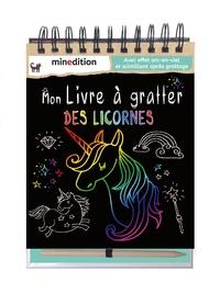 Minedition - Mon livre à gratter des licornes.