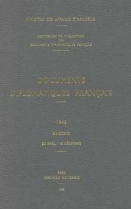 Ministère Affaires Etrangères - Documents diplomatiques français 1946 - Annexes (25 avril-12 décembre).