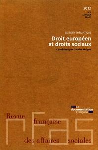 Ministère Affaires Sociales - Droit européen et droits sociaux - Numéro 1, 2012.