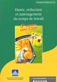 Ministère Affaires Sociales - Durée, réduction et aménagement du temps de travail.