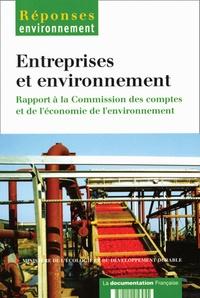 Ministère de l'Ecologie - Entreprises et environnement - Rapport à la commission des comptes de l'économie de l'environnement.