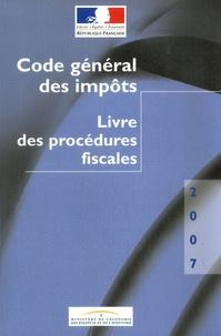 Ministère de l'Economie - Code général des impôts - Livre des procédures fiscales.