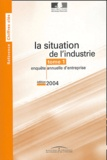 Ministère de l'Economie - La situation de l'industrie 3 volumes - Résultats détaillés de l'enquête annuelle d'entreprise 2002.