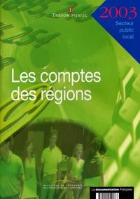 Ministère de l'Economie - Les comptes des régions 2003.