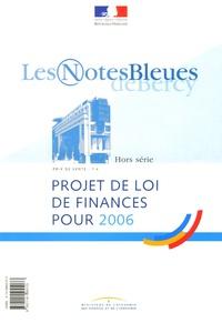 Ministère de l'Economie - Projet de loi de finances pour 2006.