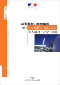 Deedr.fr Statistiques techniques de l'industrie gazière en France. - Edition 2000 Image