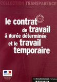 Ministère de l'Emploi - Le contrat de travail à durée déterminée et le travail temporaire.