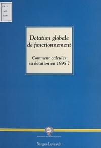 Ministère de l'Intérieur - La dotation globale de fonctionnement (DGF).