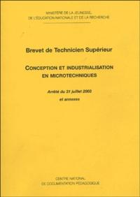"""Ministère de la Jeunesse - BTS """"Conception et industrialisation en microtechniques""""."""