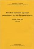 Ministère de la Jeunesse - BTS Management des unités commerciales.