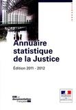 Ministère de la Justice - Annuaire statistique de la justice.