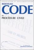 Ministère de la Justice - Nouveau Code de procédure - Textes mis à jour au 25 septembre 2003.
