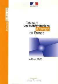 Ministère Economie et Finances - Tableaux des consommations d'énergie en France.
