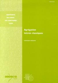 Ministère Education Nationale et Anne Armand - Agrégation Lettres classiques - Concours externe.