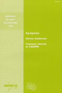 Ministère Education Nationale et Jean Jordy - Agrégation Lettres modernes - Concours interne et CAERPA.