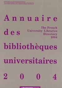 Ministère Education Nationale - Annuaire des bibliothèques universitaires.