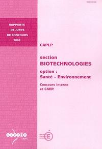 Deedr.fr CAPLP section Biotechnologies option Santé-Environnement - Concours interne et CAER Image
