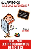 Ministère Education Nationale - Ecole maternelle - Les programmes officiels.