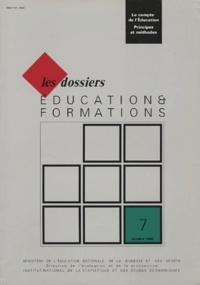 Ministère Education Nationale - Education & formations N° 7, Octobre 1990 : Le compte de l'éducation - Principes et méthodes.