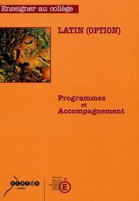 Ministère Education Nationale - Latin (option) - Programmes et accompagnement.