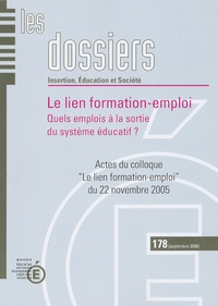Ministère Education Nationale - Le lien formation-emploi - Quels emplois à la sortie du système éducatif ?.